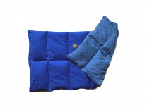 Körnerkissen mit Rapsfüllung groß Blau/Blaue Punkte 58x28 cm