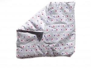Körnerkissen mit Rapsfüllung klein Dreiecke 19x28cm