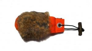 250 g Dummy orange mit Kaninchenfellring