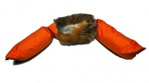Dummy 3-teilig 4,0 kg mit Fuchsfell orange