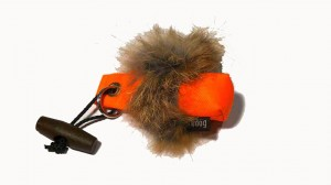 FIREDOG® Schlüsselanhänger-Dummy orange mit Fell