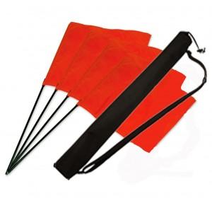 Square Flag orange Set 4 Stk. + Tasche