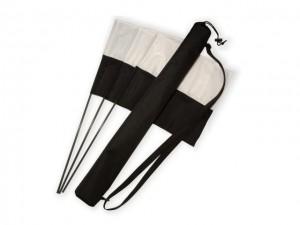 Marking Flag schwarz/weiß Set 3 Stk. + Tasche