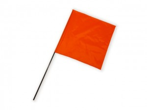 Square Flag orange 1 Stk.