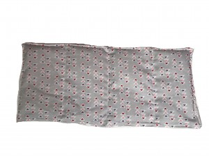 Körnerkissen mit Rapsfüllung mittel Dreiecke 39x18cm