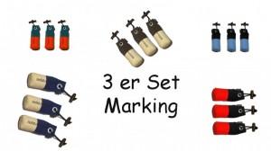 FIREDOG® Standard Dummy marking 250g 3 Stück in verschiedenen Farben