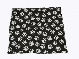 Körnerkissen mit Rapsfüllung klein Tatzen schwarz/weiß 28x29 cm