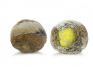 Kaninchenfellüberzug für Tennisball